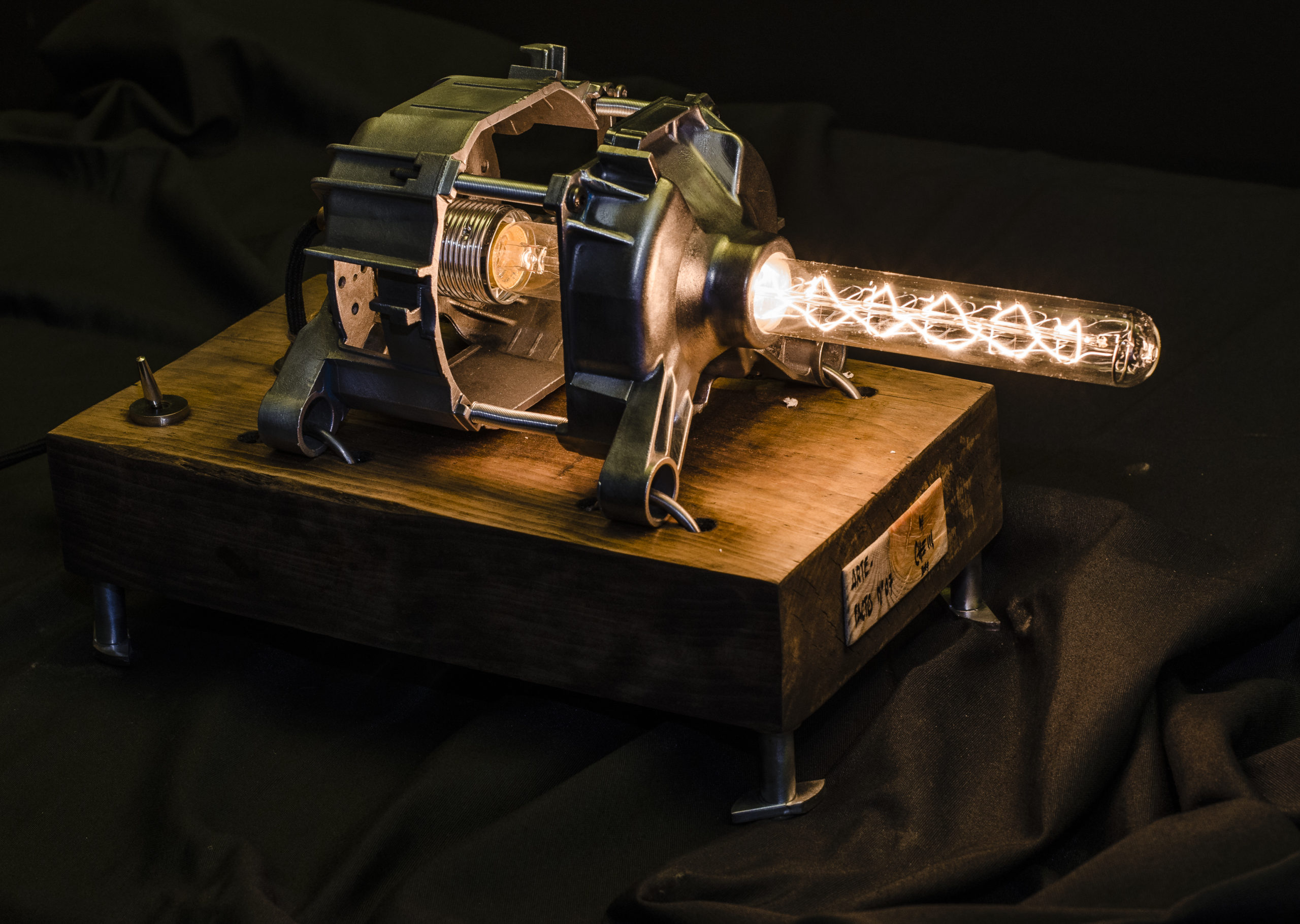 HADRON COLLISION LAMP ART BY CHEM 3